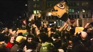 Jubilant Packers Fans Celebrate in Green Bay