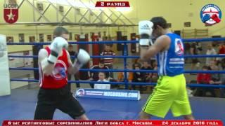 6-ые рейтинговые бои Лига бокса г. Москвы  – 24.12.16 г. до 69 кг.