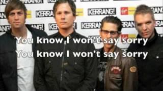 Angels & Airwaves - The Machine (Lyrics on Screen)