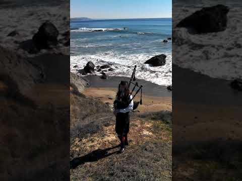 Playing on the bluffs in Cambria, California