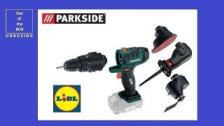 Parkside Cordless Detail Sander PAHS 12 B2 UNBOXING (Lidl