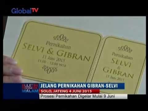 Video Mau Tahu Seperti Apa Undangan Pernikahan Gibran Dan Selvi? - BIM 04/06