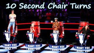Fastest Chair Turns in The Voice   Part 1