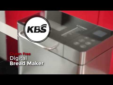 , KBS Bread Machine, Automatic 2LB Bread Maker with Nuts Dispenser, LCD Display Touch Control, 3 Crust Colors 17 Menus, 1 Hour Keep Warm 15 Hours Delay Time, Gluten Free Whole Wheat, Stainless Steel