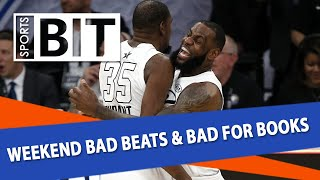 Weekend Bad Beats & Bad for Books Recap | Sports BIT | Monday, Feb. 19 | Kholo.pk