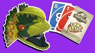 UNBOXING JURASSIC WORLD UNO TOY REVIEW! FUN KIDS GAMES BOARD GAME REVIEW!