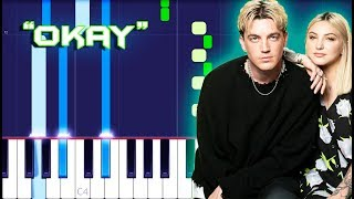 LANY   Okay W Julia Michaels Piano Tutorial EASY