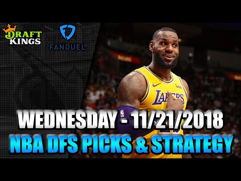 11/21/18 - NBA FanDuel & DraftKings Picks - Lineup Strategy
