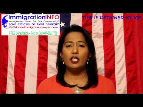 Detained by ICE?   Free Consultation   Immigration Lawyer Gail Seeram   Text or Call 407-292-7730