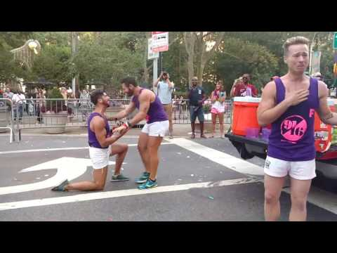 """FLAGGOTS NYC 2016 Marriage proposal and """"He said YES"""" !!!"""