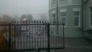 Ливень с градом Павловский Посад