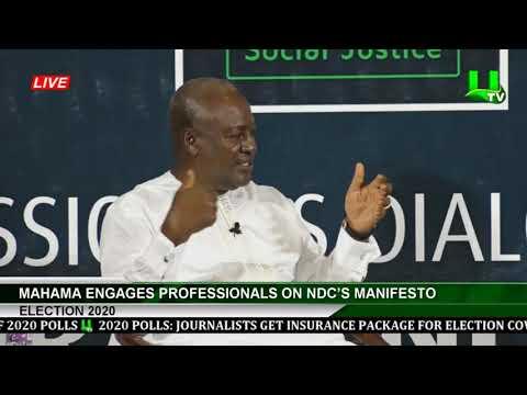 Election 2020: Mahama Engages Professionals On NDC's Manifesto