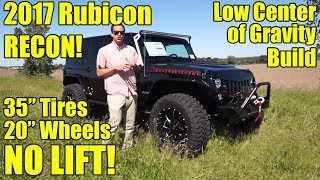 """35"""" TIRES, NO LIFT!  2017 Wrangler Rubicon RECON!  Our latest has 20"""" Fuel Wheels and lots more!"""