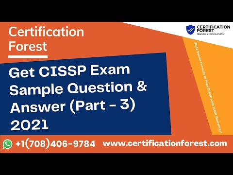 Get CISSP Exam Sample Question & Answer (Part 3) 2021 - YouTube