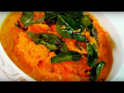 Carrot Chutney Recipe - Carrot Chutney without Coconut || Breakfast Chutney recipe