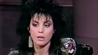 Joan Jett Roadrunner & interview David Letterman 1990