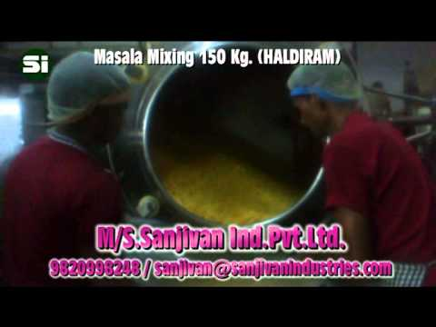 Namkeen Masala Mixing Tiltting Type Machine