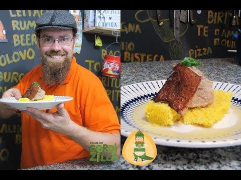 0131 - Barriga de Porco com cuscuz (Chef Fogaça - Feat Supermercado Nosso Lar)