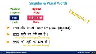 Hindi Grammar - Singular And Plural [ English Language ]