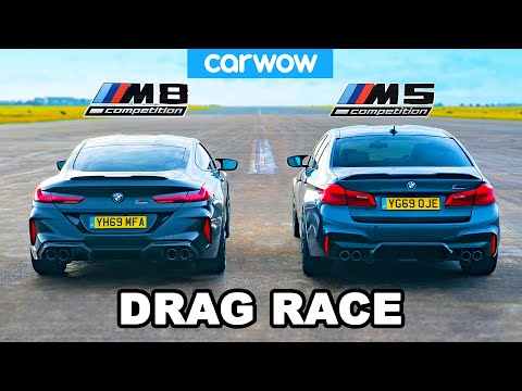BMW M8 vs. M5 Drag Race Ends in Total Annihilation