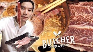 เนื้อแองกัสฉ่ำๆ ส่งตรงจากอเมริกา ที่ Butcher Beef&Beer [4k]