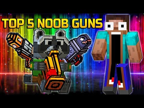 TOP 5 Most Noob No Skill Weapons of all time - Pixel Gun 3D