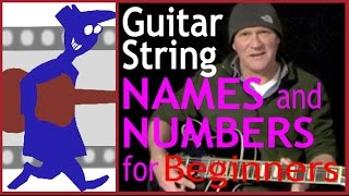 Guitar string names and numbers for beginners