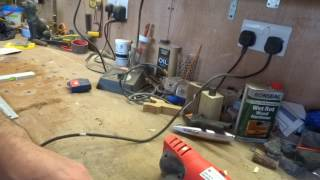 straightening a shank for a walking stick using hot air gun