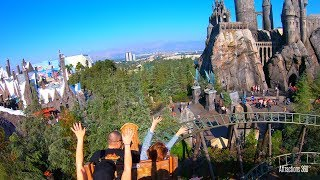 [4K] Hippogriff Coaster Ride - The Wizarding World of Harry Potter - GoPro 7 Hypersmooth Test