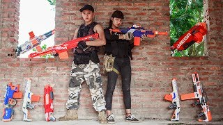 Nerf Guns War : S.W.A.T Girl Of Special SEAL TEAM Rescue S.W.A.T Men Attack Dangerous Enemies