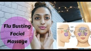 Sinus Cold & Flu Relief Self Facial Massage, Lymphatic Drainage Stuffy Nose Massage Routine