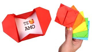 How to Make Heart Box Envelope | Easy Origami Pop Up Heart Envelope with Message for Valentine