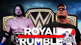 WWE 2K17 John Cena vs AJ Styles Promo! (Royal Rumble 2017 WWE Championship Match!)