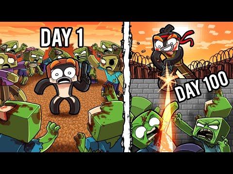 I Survived 100 Days in a WASTELAND ZOMBIE APOCALYPSE! (Minecraft)