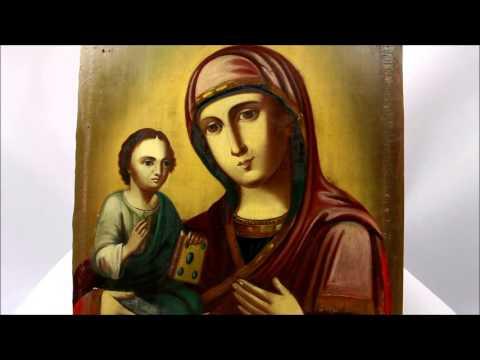 Икона старинная Пресвятой Богородицы Праворучица. DR0066