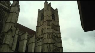preview picture of video 'plenum de la cathédrale St Etienne d'Auxerre vue extérieure'