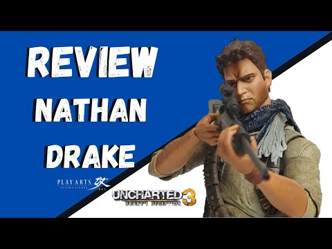 Review Nathan Drake -Uncharted 3 - Play Arts Kai -Square Enix -[PT-BR]