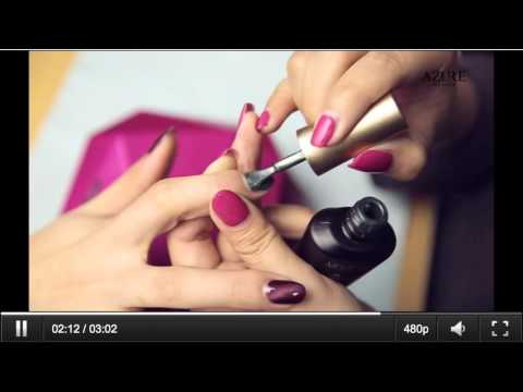 "How To Apply Azure Magnetic Gel Nail Polish ""Cat Eye"" Effect"