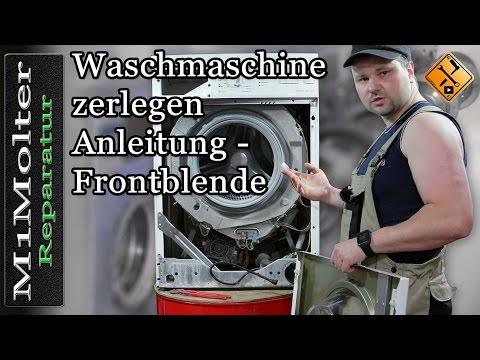 Waschmaschine zerlegen Anleitung  - Frontblende öffnen von M1Molter