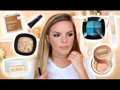 TESTING NEW DRUGSTORE MAKEUP! First Impressions /  10 Hour Update | Casey Holmes