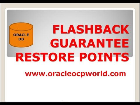8.oracle world-FLASHBACK Guaranteed Restore Point