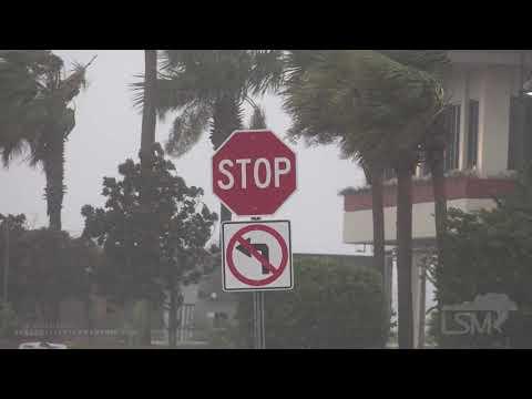 09-15-2020 Pensacola Beach, FL – Hurricane Sally – Surge – High Winds – Waves Crashing Against Seawa