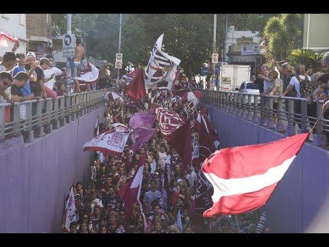 """""""Caravana del Centenario , Cien Años Lanus HD"""" Barra: La Barra 14 • Club: Lanús"""