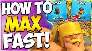 Secret To Fast Wall Upgrades | How To Upgrade Your Walls Fast In Clash Of Clans