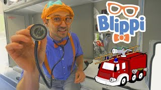 Blippi Fire Trucks for Toddlers | 1 Hour Educational Videos for Children