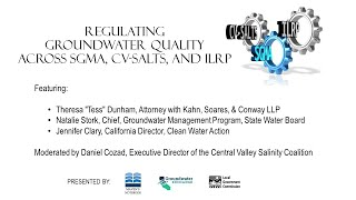 Regulating groundwater quality across SGMA, CV-SALTS, and ILRP