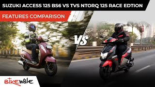 2021 Suzuki Access 125 BS6 Vs TVS Ntorq 125 Race Edition | FEATURES COMPARISON | Best 125 cc Scooter?