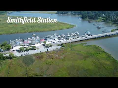 Birds Eye View of Smithfield VA - August 2021