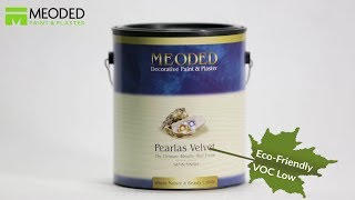 Faux Suede Paint Finish- Decorative Paint Pearlas Velvet- Meoded Paint
