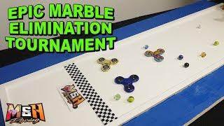 Epic 8-Marble Elimination Tournament (Ft. Fidget Spinners!)